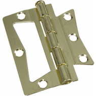 National Hardware N244-780 Bi-Fold Non Mortise Door Hinges 3 Inch Brass Plated Steel 2 Pack