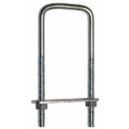 National Hardware N244-996 Square U-Bolt, Plate & Nuts 3/8 By 3-5/8 By 4 Inch Zinc Plated Steel