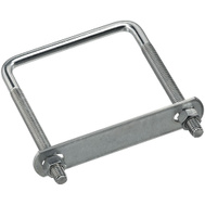 National Hardware N245-001 Square U-Bolt, Plate & Nuts 3/8 By 3-5/8 By 5 Inch Zinc Plated Steel