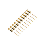 National Hardware N260-067 Picture Hangers Brass Finish Steel 10 Pack