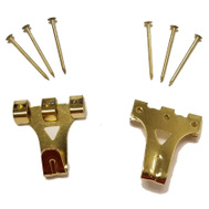 National Hardware N260-166 Super Hangers 75 Pound Rated Brass Finish Steel 2 Pack
