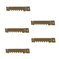 National Hardware N260-182 Zig Zag Picture Hangers 20 Pound Brass Finish Steel 5 Pack