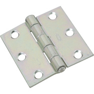 National Hardware N261-636 Non-Removable Pin Broad Hinge 2-1/2 Inch Zinc Plated Steel 2 Pack