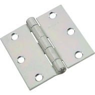 National Hardware N261-644 Non-Removable Pin Broad Hinge 3 Inch Zinc Plated Steel 2 Pack