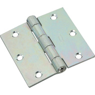 National Hardware N261-651 Non-Removable Pin Broad Hinge 3-1/2 Inch Zinc Plated Steel 2 Pack