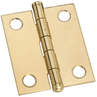 National Hardware N261-750 S803-390 Ball Tip Hinges 1-1/2 By 1-1/4 Inch Bright Solid Brass 2 Pack