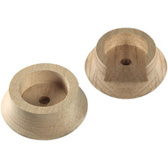 National Hardware N262-972 N287-137 1-3/8 Inch Natural Wood Pole Socket