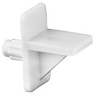 National Hardware N266-205P Shelf Support White Plastic Polybag Of 8