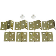 National Hardware N269-860 Shutter Hinge Kit Bright Brass Plated Steel