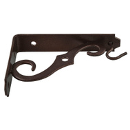 National Hardware N274-472 Ornamental Shelf And Hanging Plant Bracket 5 By 3-1/2 Inch Antique Bronze