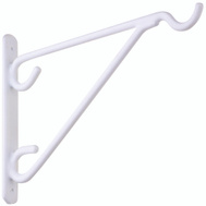 National Hardware N274-548 Hanging Plant Vinyl Coated Outdoor Brackets White 8 Inch