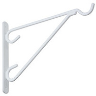 National Hardware N274-654 Hanging Plant Vinyl Coated Outdoor Brackets White 12 Inch