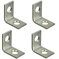 National Hardware N275-628 3/4 By 1/2 Inch Zinc Plated Steel Corner Braces 4 Pack