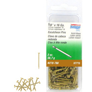 National Hardware N278-788 Escutcheon Pins Solid Brass 16 Gauge By 5/8 Inch
