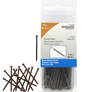National Hardware N279-224 Panel Nails 1-5/8 Inch Black Walnut