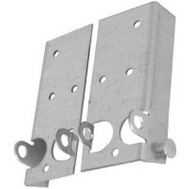 National Hardware N280-453 Bottom Lift & Roller Brackets 5-11/16 Inch Galvanized 2 Pack