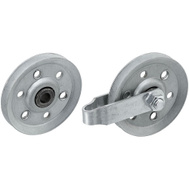 National Hardware N280-578 Garage Door Pulleys With 1 Fork, Axle, Bolt And Nut 3 Inch Galvanized
