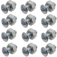 National Hardware N280-875 Ribbed Neck Bolts And Nuts 1/4-20 TPI 1/2 Inch For Fiberglass Garage Doors 12 Pack