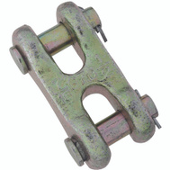 National Hardware N282-145 Double Clevis Link 1/2 Inch Yellow Chromate Forged Steel