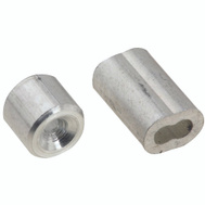 National Hardware N283-846 Ferrules And Stops Aluminum 1/16 Inch 2 Pack