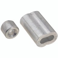 National Hardware N283-861 Ferrules And Stops Aluminum 3/16 Inch 2 Pack