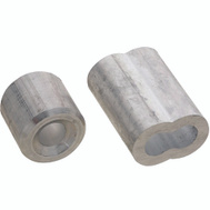 National Hardware N283-879 Ferrules And Stops Aluminum 1/4 Inch 2 Pack