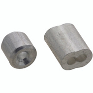 National Hardware N283-887 Ferrules And Stops Aluminum 3/32 Inch 2 Pack