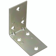 National Hardware N285-536 Double Wide Corner Brace 2-1/2 By 1-1/2 By 0.07 Inch Zinc Plated Steel Bulk