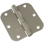 National Hardware N305-268 Door Hinge 3-1/2 Inch 5/8 Radius Satin Nickel