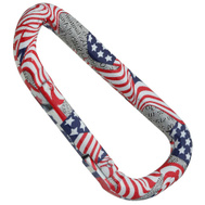 National Hardware N307-132 Interlocking Spring Snaps 3-1/8 Inch Stars And Stripes Red White And Blue