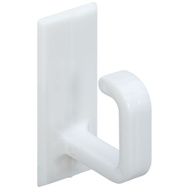 National Hardware N308-106 Self Adhesive Plastic Cup Hooks White 6 Pack
