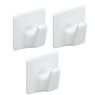 National Hardware N308-114 All Purpose Self Adhesive Plastic Hooks Small White 3 Pack