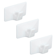 National Hardware N308-122 All Purpose Self Adhesive Plastic Hooks Medium White 3 Pack