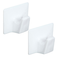 National Hardware N308-130 White All Purpose Self Adhesive Hooks 2 Pack Large
