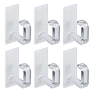 National Hardware N308-148 Self Adhesive Cup Hooks Clear Plastic 6 Pack