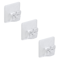 National Hardware N308-155 Clear Small Household Hooks 3 Pack