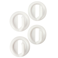 National Hardware N308-189 Self Adhesive Round Plastic Robe Hooks White 4 Pack