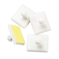 National Hardware N308-254 Tie Back Buttons Self Adhesive White 4 Pack