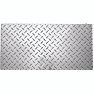 National Hardware N316-364 Diamond Plate 0.10 Thick 24 Inch By 12 Inch Polished Aluminum