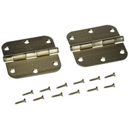National Hardware N324-962 Door Hinges 3-1/2 Inch 5/8 Radius With Nib Satin Nickel 2 Pack
