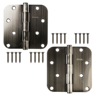 National Hardware N324-996 Door Hinges 4 Inch 5/8 Radius Antique Pewter 2 Pack