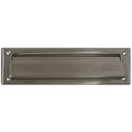 National Hardware N325-290 Mail Slot 2 By 11 Inch Opening Satin Nickel On Solid Brass