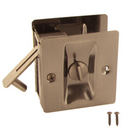 National Hardware N326-280 Privacy Knotched Pocket Door Latch Solid Brass Pewter Finish