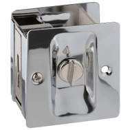National Hardware N326-298 Privacy Knotched Pocket Door Latch Solid Brass Chrome Finish