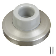 National Hardware N326-991 N326-983 Concave Wall Door Stop 2-3/8 Inch Satin Nickel On Brass