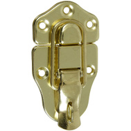 National Hardware N327-254 N208-603 1-3/4 By 3-3/4 Inch Bright Brass Catch With Padlock Eye 2 Pack