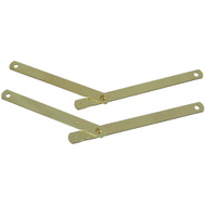 National Hardware N327-346 Folding Support Left & Right Set 9-1/2 By 1/2 Inch Bright Brass Plated Steel