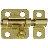National Hardware N327-403 N213-405 Window Barrel Bolt Solid Brass 2 Inch Bright Brass