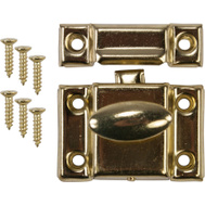 National Hardware N327-528 N149-625 S756-050 Cupboard Catch Bright Brass On Steel