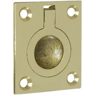 National Hardware N327-569 N219-063 1-1/2 Inch Bright Solid Brass Finish Flush Ring Pull